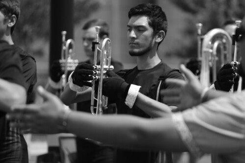 Genesis trumpet player