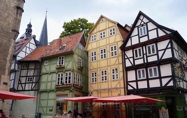 Auf dem Quedlinburger Rathausplatz