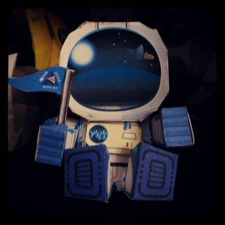 Astronaut #papertoy, for #365days project, 123/365