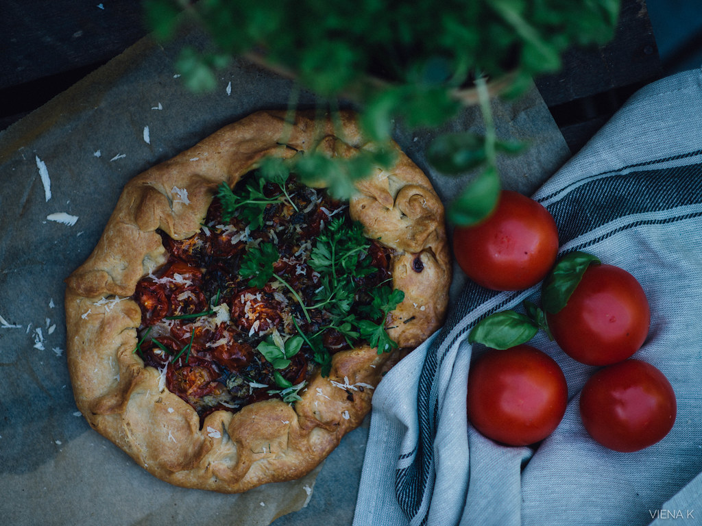 ranskalainen tomaattipiiras
