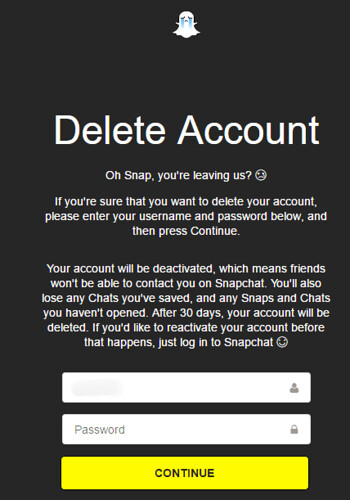 Delete-Snapchat-Account