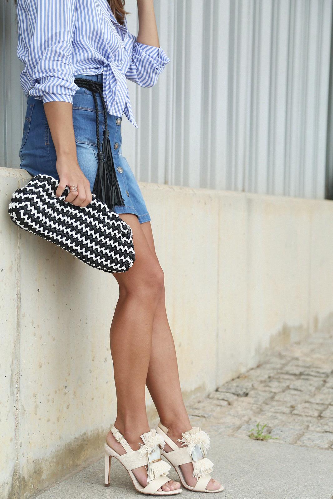 jessie chanes seams for a desire denim skirt stripes shirt-14