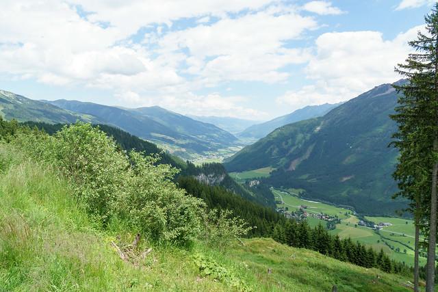 das Salzachtal im Pinzgau