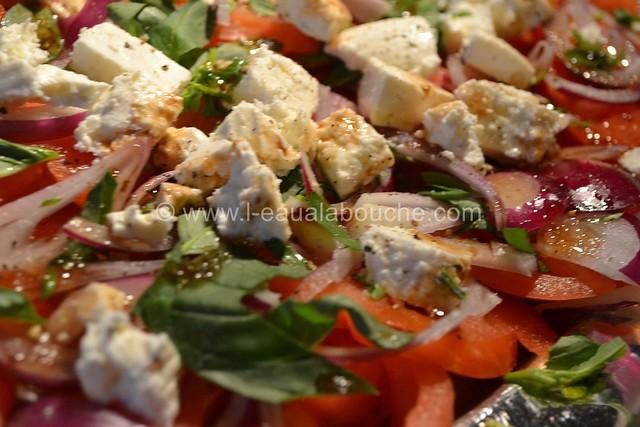 Salade de Tomates Oignons Rouges et Feta © Ana Luthi Tous droits réservés 005