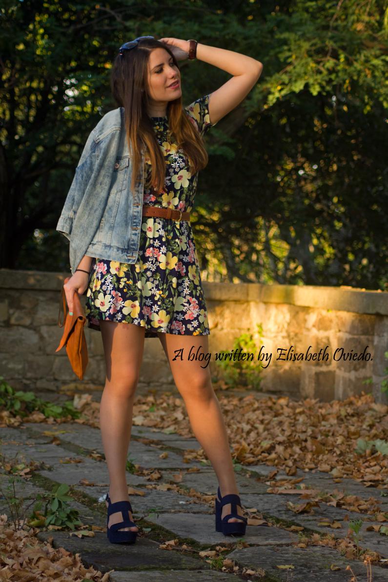 vestido floral chaqueta vaquera denim heelsandroses (4)