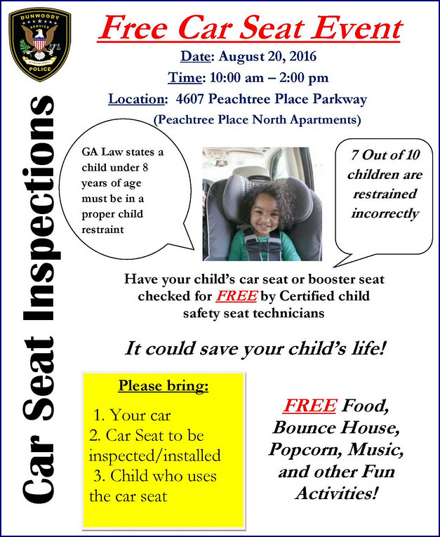 Heneghan\'s Dunwoody Blog: Free Child Car Seat Safety Check offered ...