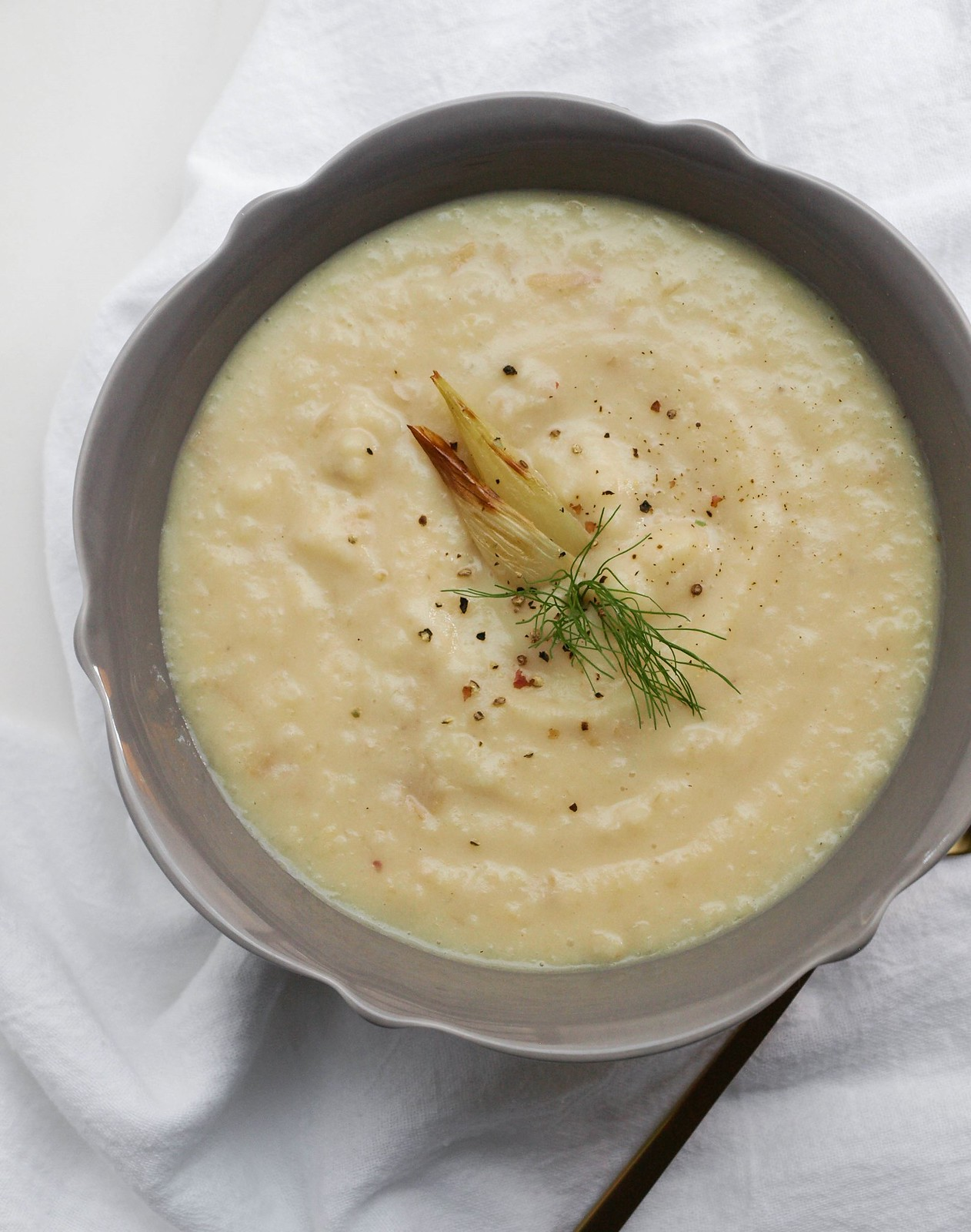 Roasted Fennel & Potato Soup