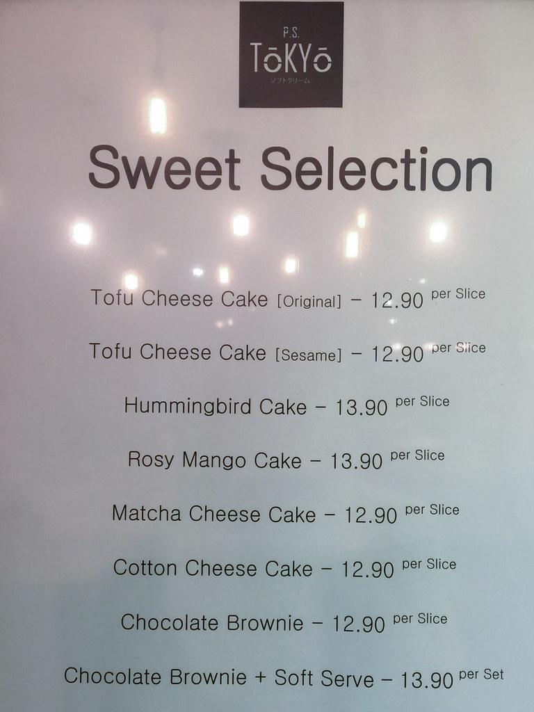 Sweet selection at P.S. Tokyo