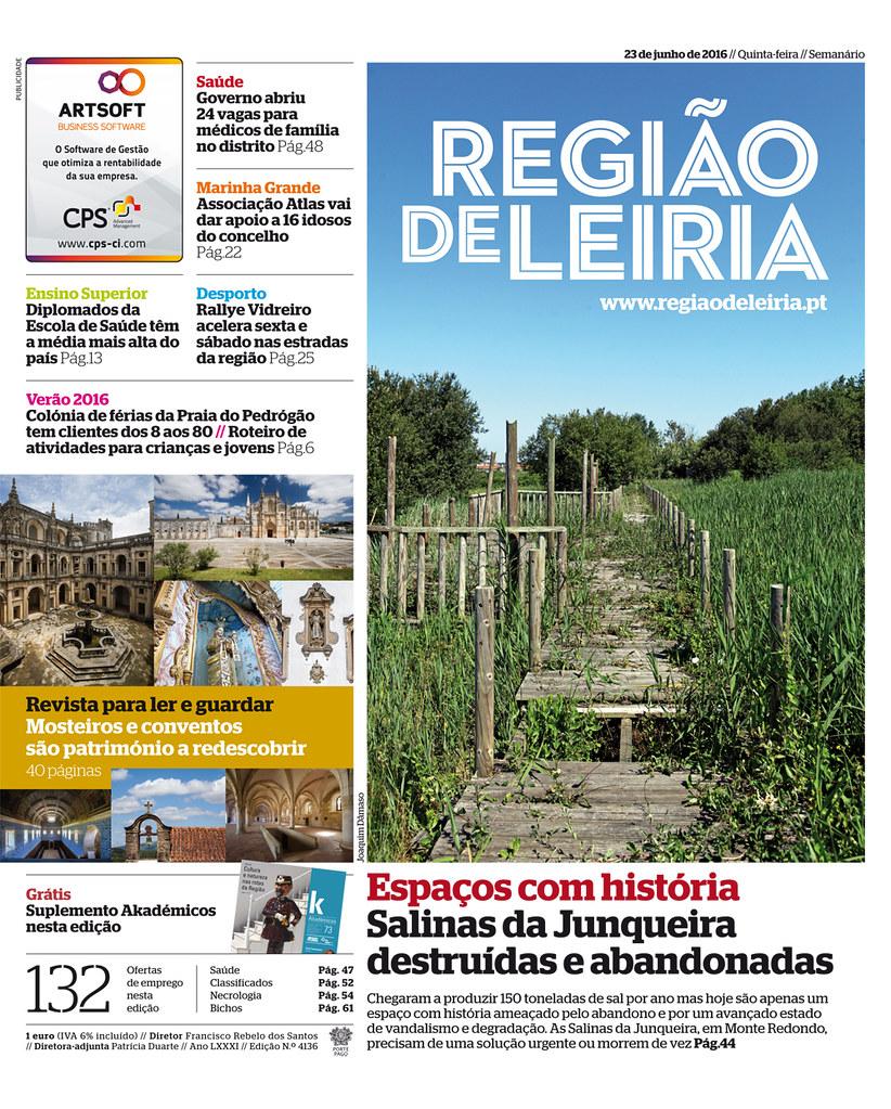 Capa Regiao de Leiria edição 4136 de 23 de junho 2016.jpg