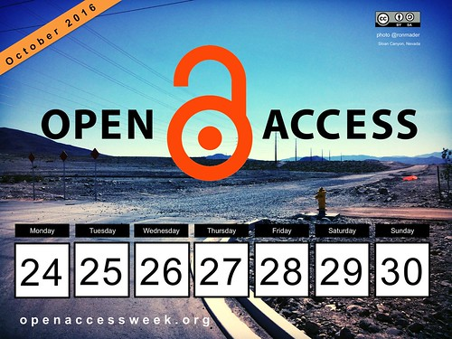 Open in Action: 2016 Open Access Week (October 24-30) #OAweek @SPARC_NA