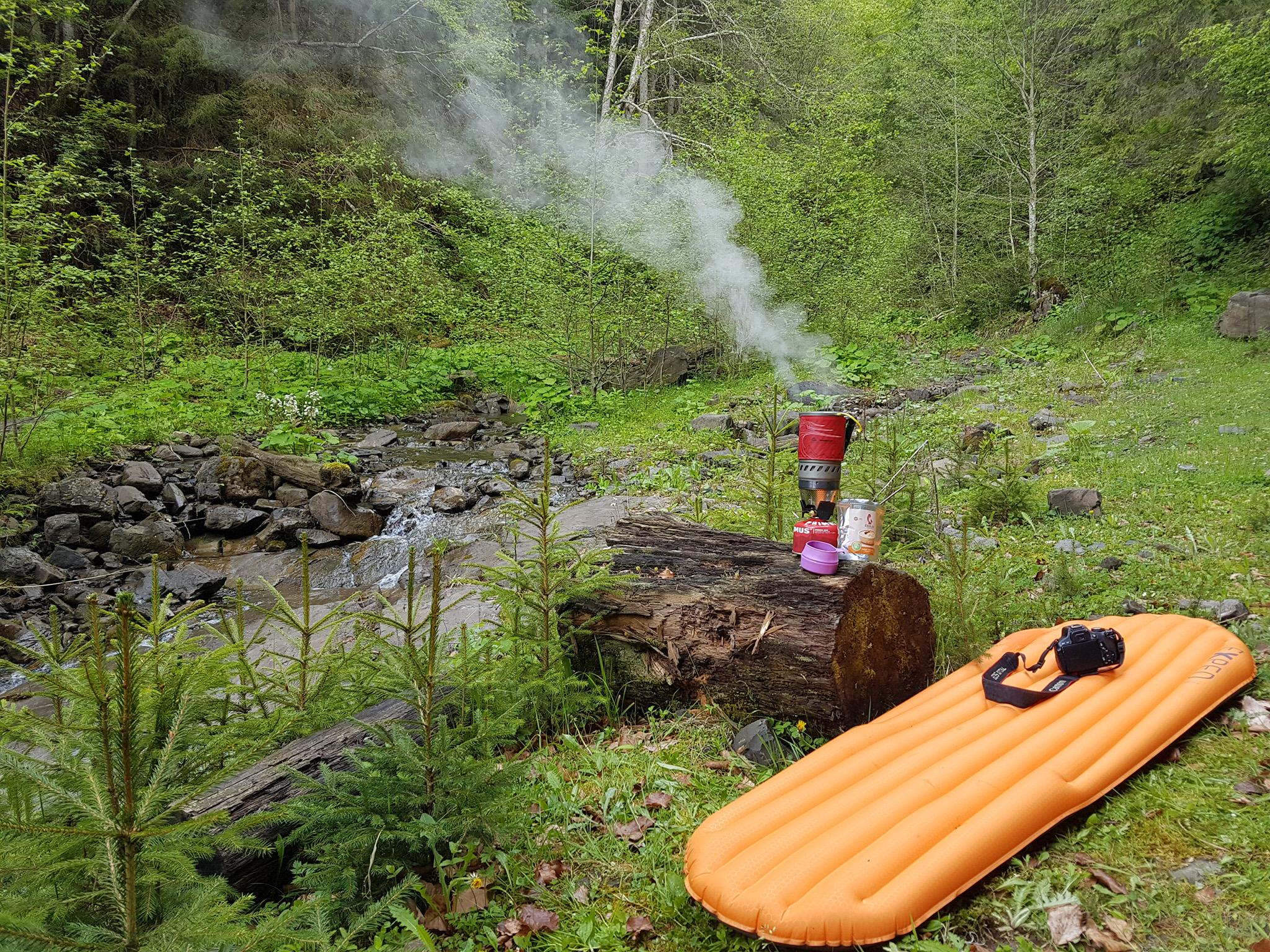 MSR Windburner. Сніданок в Гринявських горах