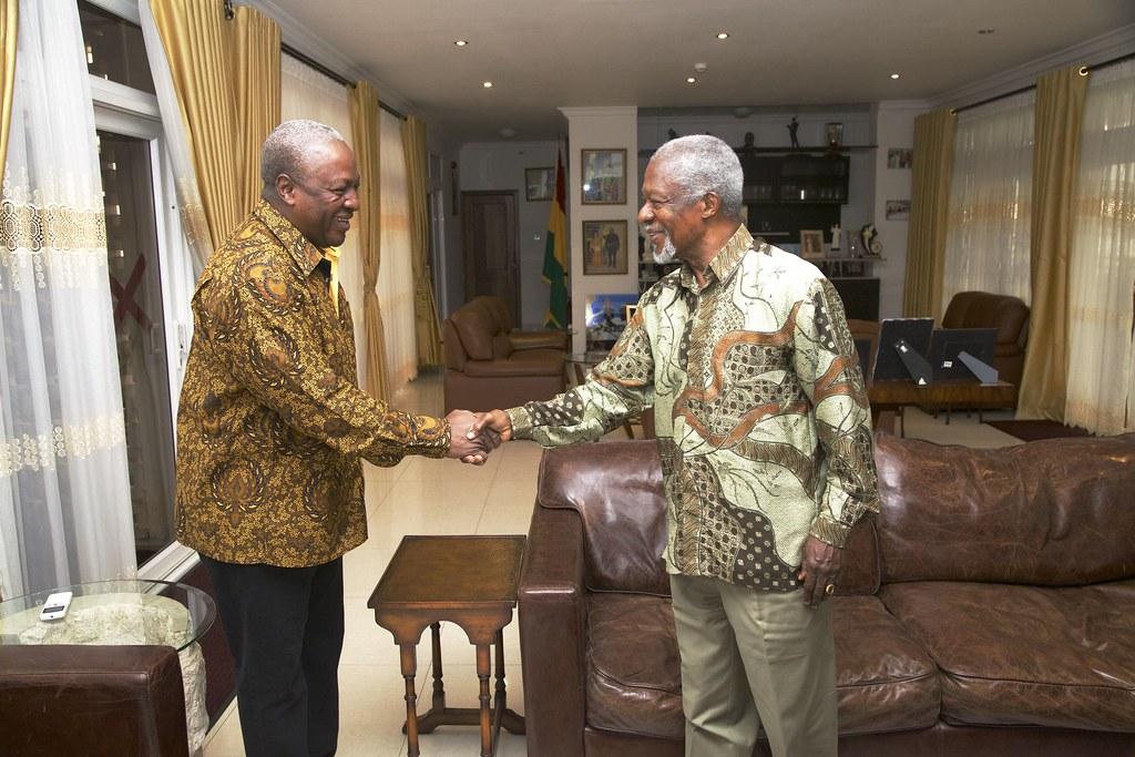 Kofi Annan meets President Mahama
