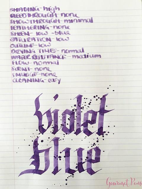Ink Shot Review Graf Von Faber-Castell Violet Blue @AppelboomLaren 7