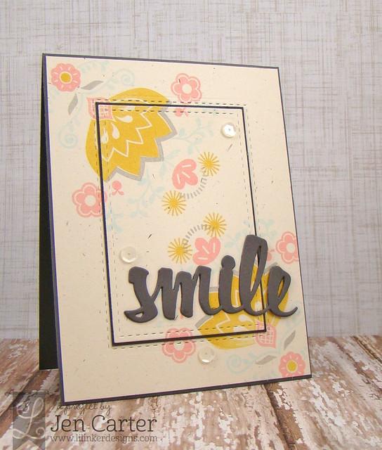 Jen Carter LID Double Stitched Rect Smile Wm