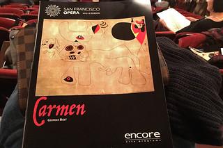 SF Opera - Carmen programme