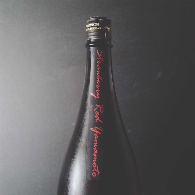 Yamamoto-Strawberry red label (bottle neck)