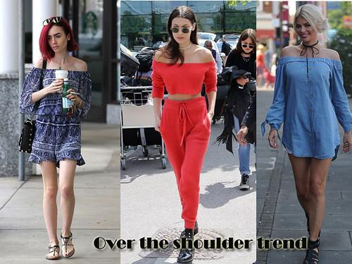 Over the shoulder/Bardot trend