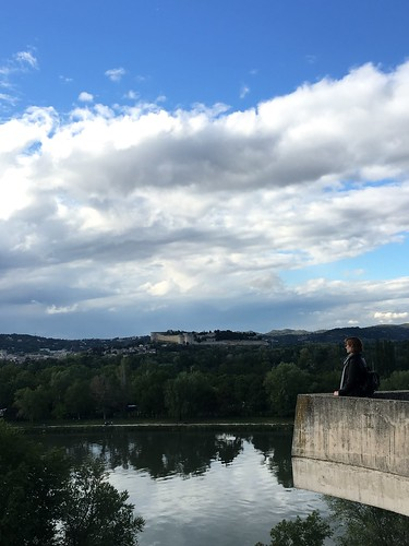 Lookout over Rhône River in Avignon