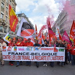LILLE LE 28 JUIN 2016 FRANCE BELGIQUE CONTRE LES LOIS TRAVAIL LA PRECARITE ET L'AUSTERITE