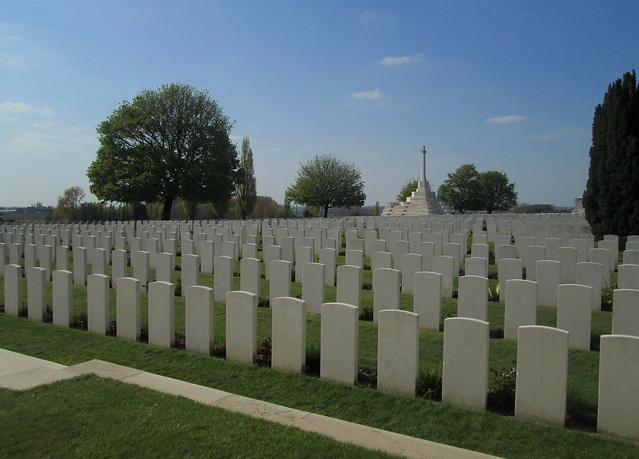 Tyne Cot Cemetery, Graves and Cross Of Sacrifice