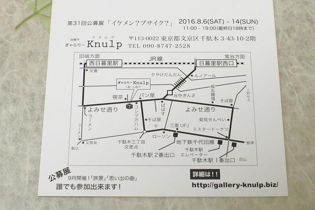 ぎゃらりーKnulp 「イケメン?ブサイク?」展 平成28年(2016年)8月6日(土)~14日(日)
