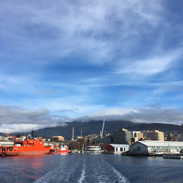 hobart harbour from the mona ferry
