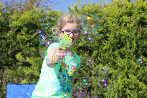 Hands up! Bubble gun