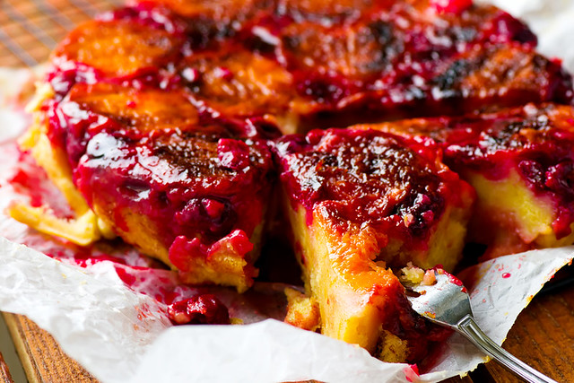 upside down  apricot and cherry  cake