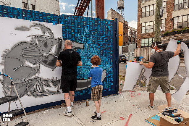 "Logan Hicks & Joe Iurato ""Seafaring Dream"" New York Street Art. Photo ©Hookedblog"