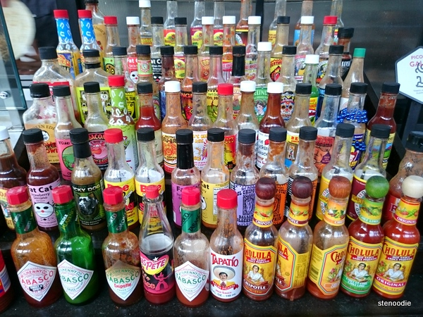 Wilbur Mexicana hot sauce collection