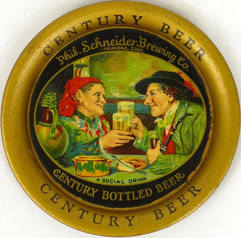 Century-Beer-Tip-Trays-3-6-inches-Ph-Schneider-Brewing-Co--Pre-Prohibition