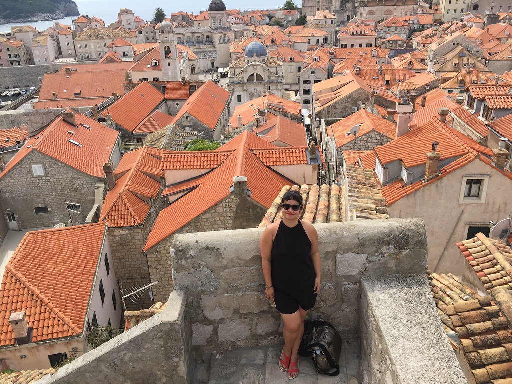 Dubrovnik Croatia old city wall rooftops