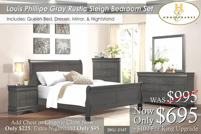 Luis Phillipe Rustic Bed Set NEW