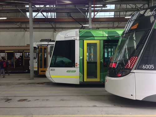 Four Generations Of Melbourne Trams At Kew Depot From