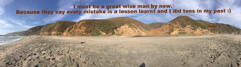 mistakes made me wise :)