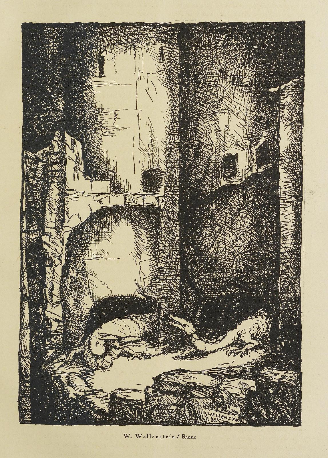 Der Orchideengarten - 1920, W. Wellenstein - Ruin