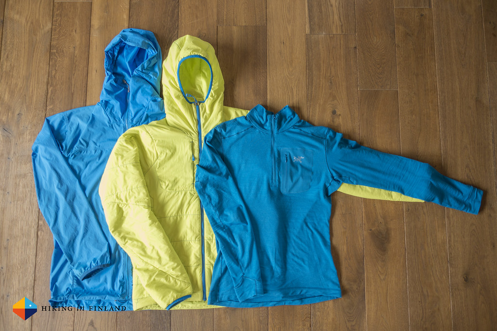 Black Diamond Alpine Start Hoody, Patagonia Nano-Air Hoody and Satoro AR Zip Neck LS Mens