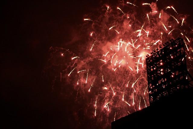 Postgame fireworks @ Angel Stadium