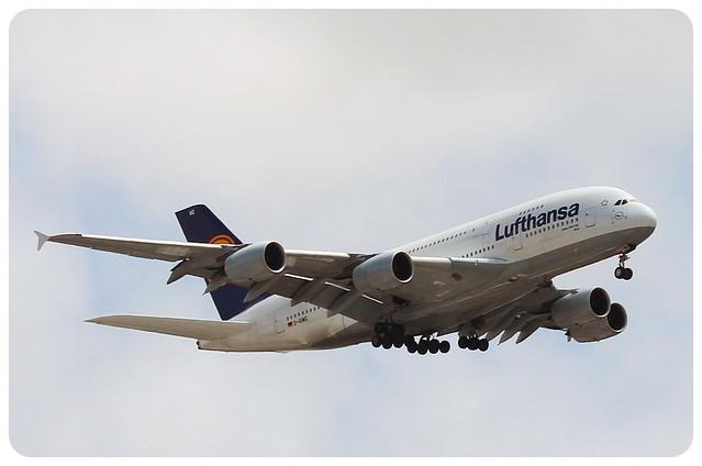 lufthansa A380 plane LAX