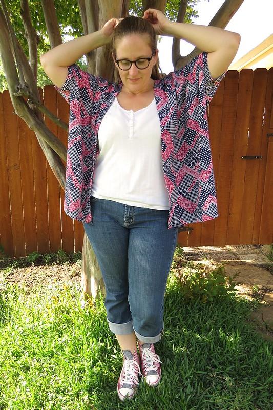 Patriotic Kimono - After