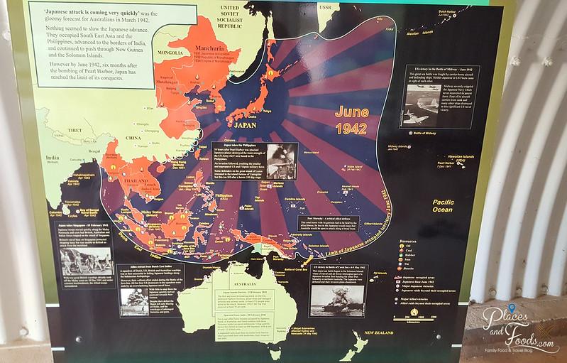 darwin WWII japan map