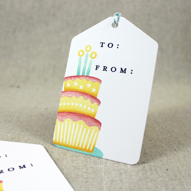 Single Birthday Cake Tag