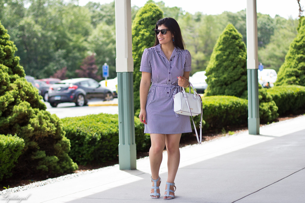 striped shirt dress, blue sandals, white bag-8.jpg