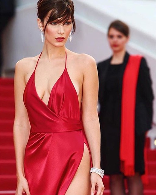 Bella Hadid stunning at Cannes #beauty #beautiful #stunning #supermodel #model #cannes #film #france #red @jenatkinhair @makeupvincent @alexandrevauthier @elizabethsulcer @degrisogono photo from @bellahadid