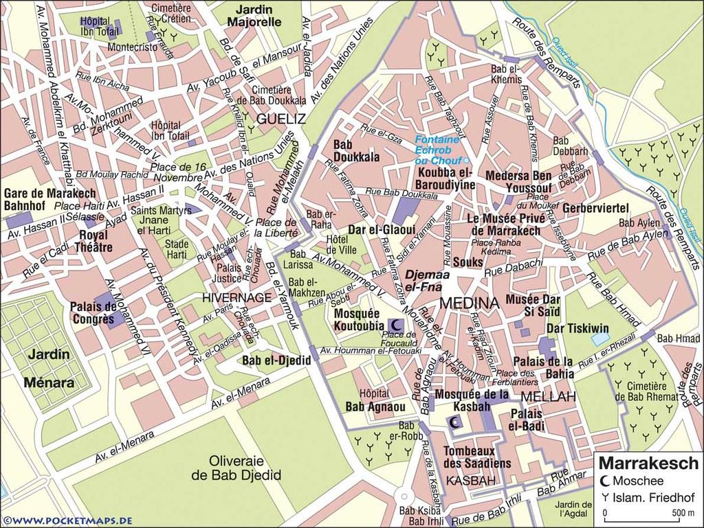 Mapa de Marrakech