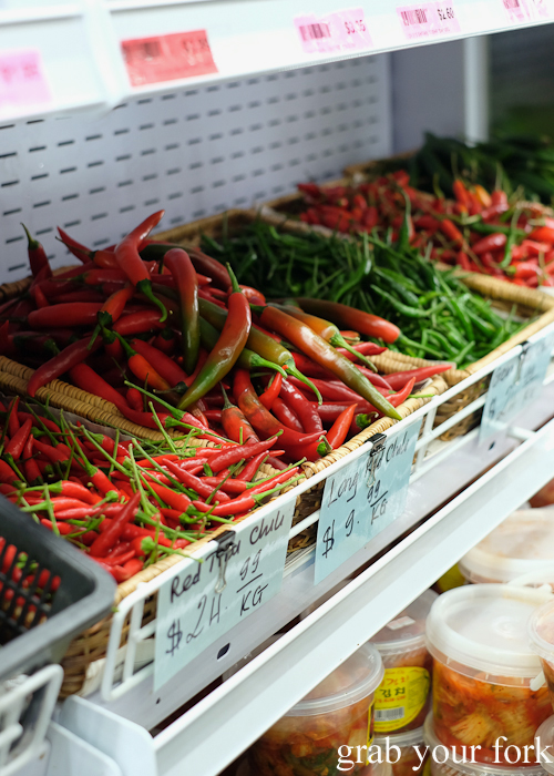 Fresh chillies at Save More Asian grocery store during the Community Kouzina Marrickville Food Tour for Open Marrickville