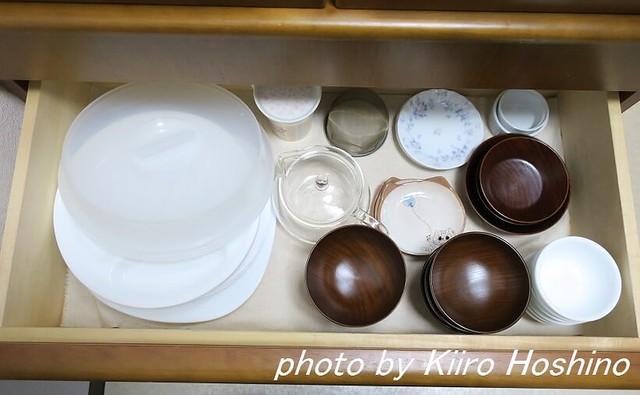 食器棚整理、引き出し3段目