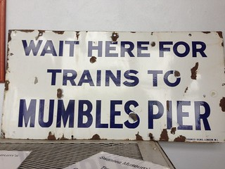 Sign in Tram shed, Swansea Museum