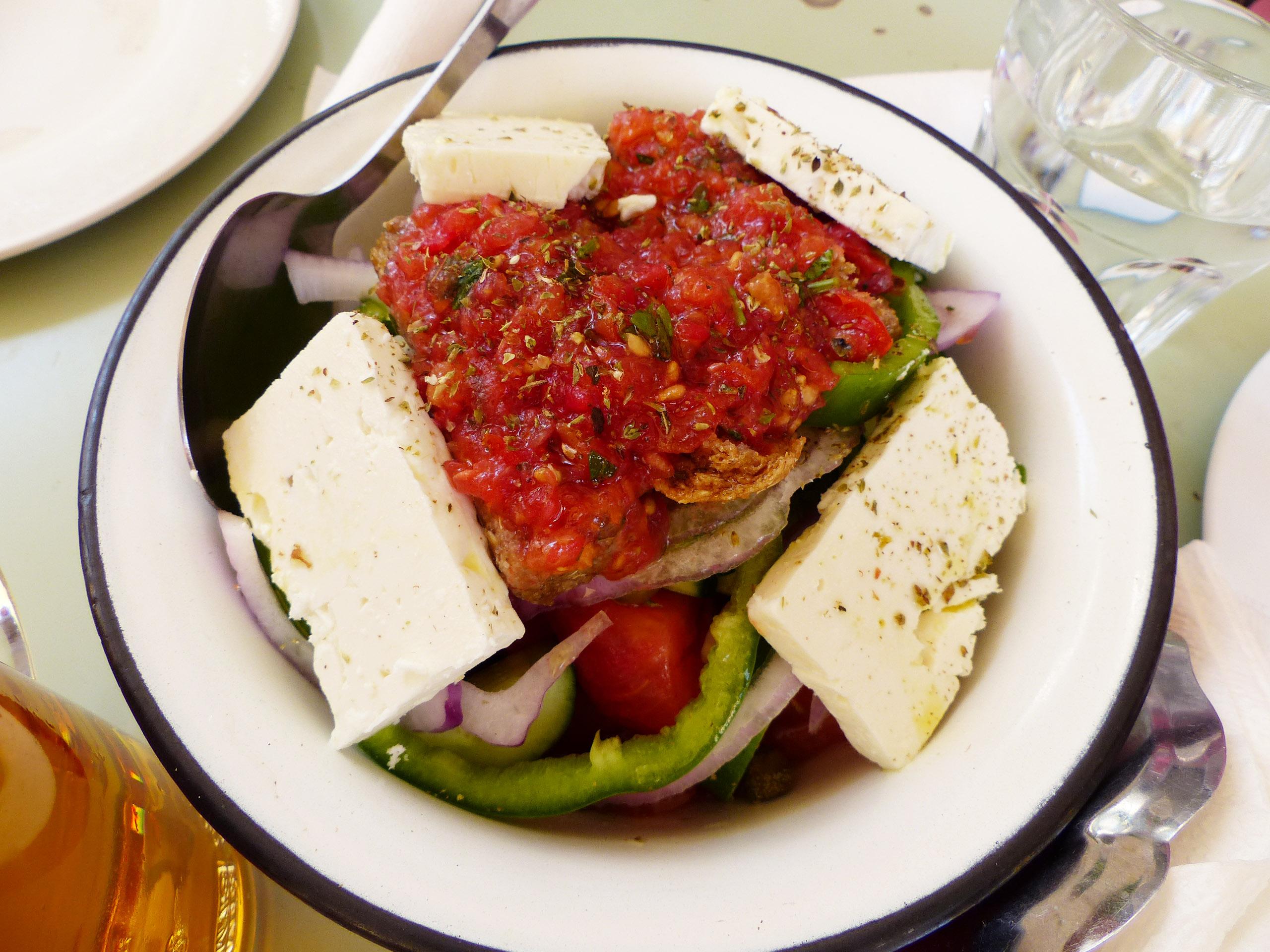 salade grecque à Kolonaki