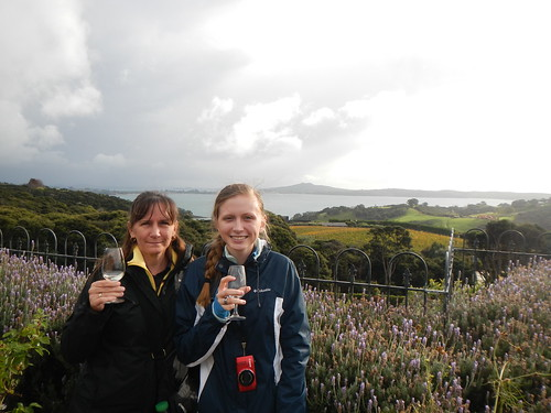 Nadine and Kelsea Tasting Wine at Mudbrick